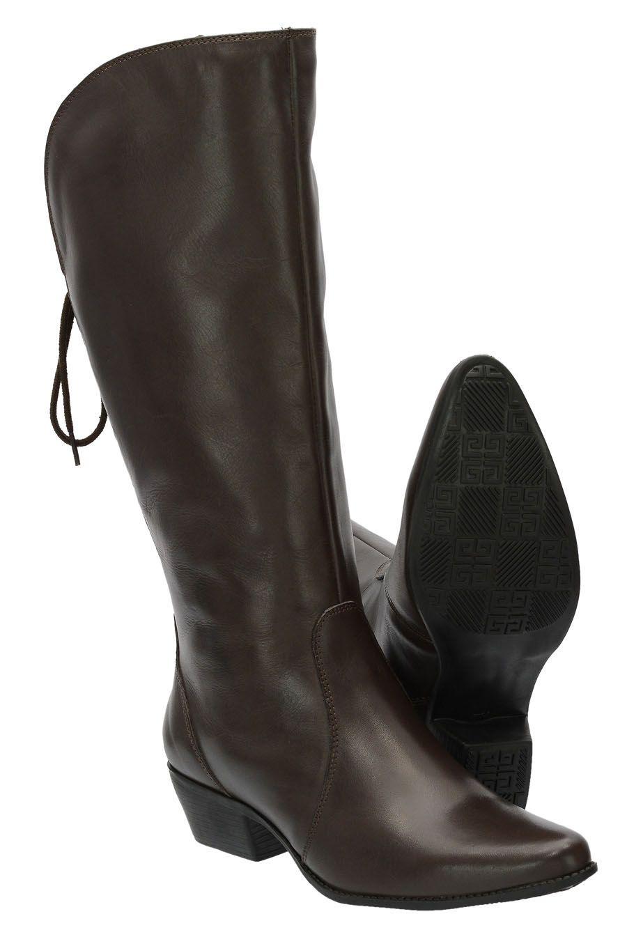 Bota Texana estilo montaria classic feminina de cano alto 2722