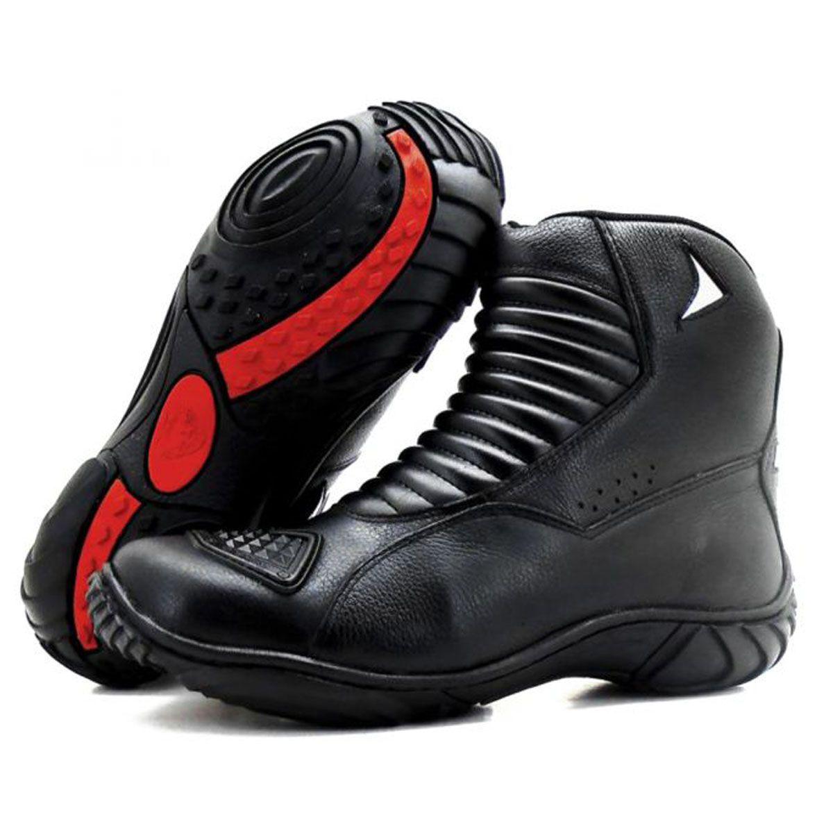 Bota para motociclista de cano médio Atron Shoes