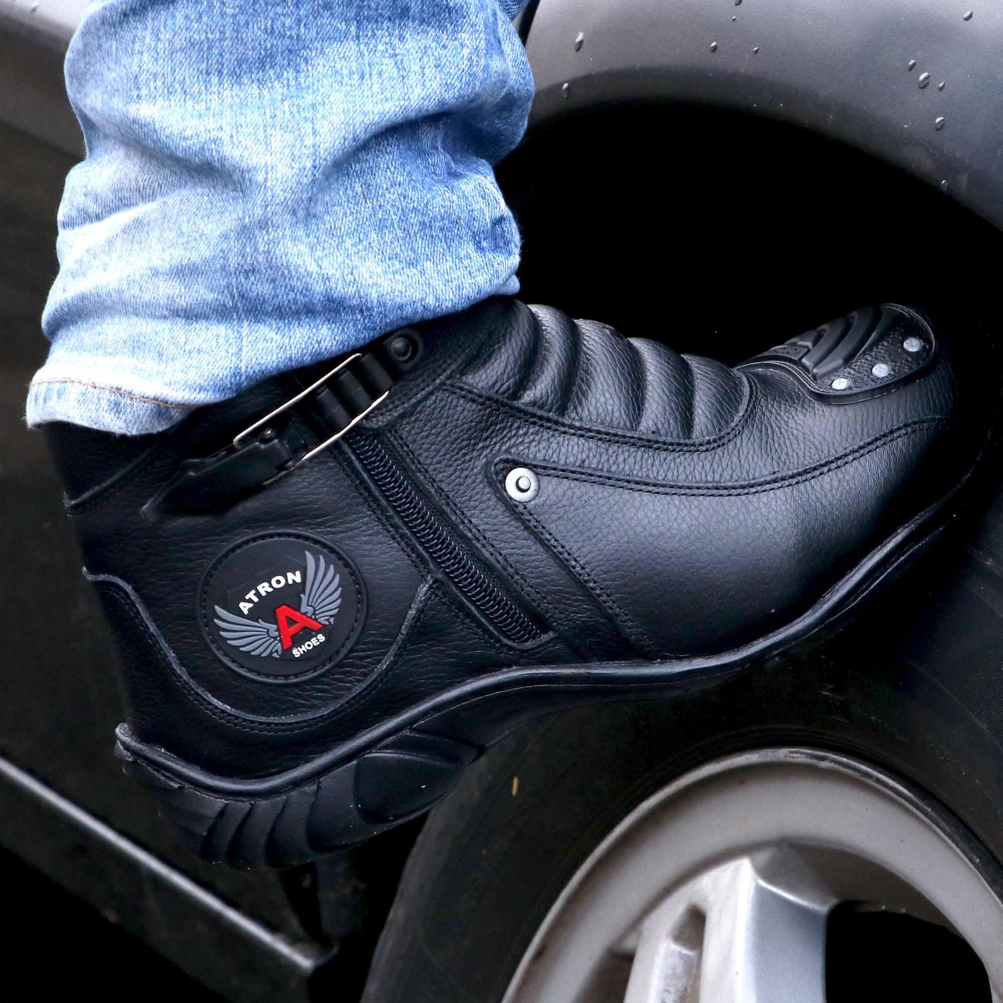 Bota motociclista couro legítimo 271 - grátis uma carteira