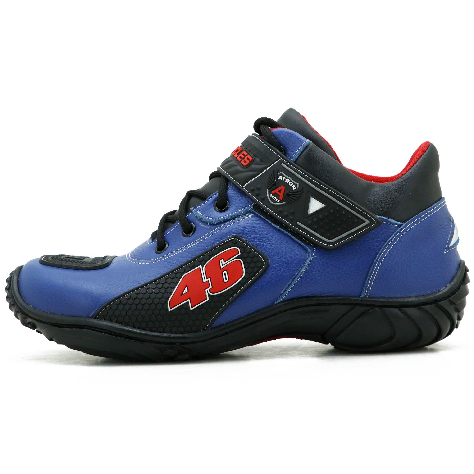 Bota motociclista Valentino Rossi azul 46