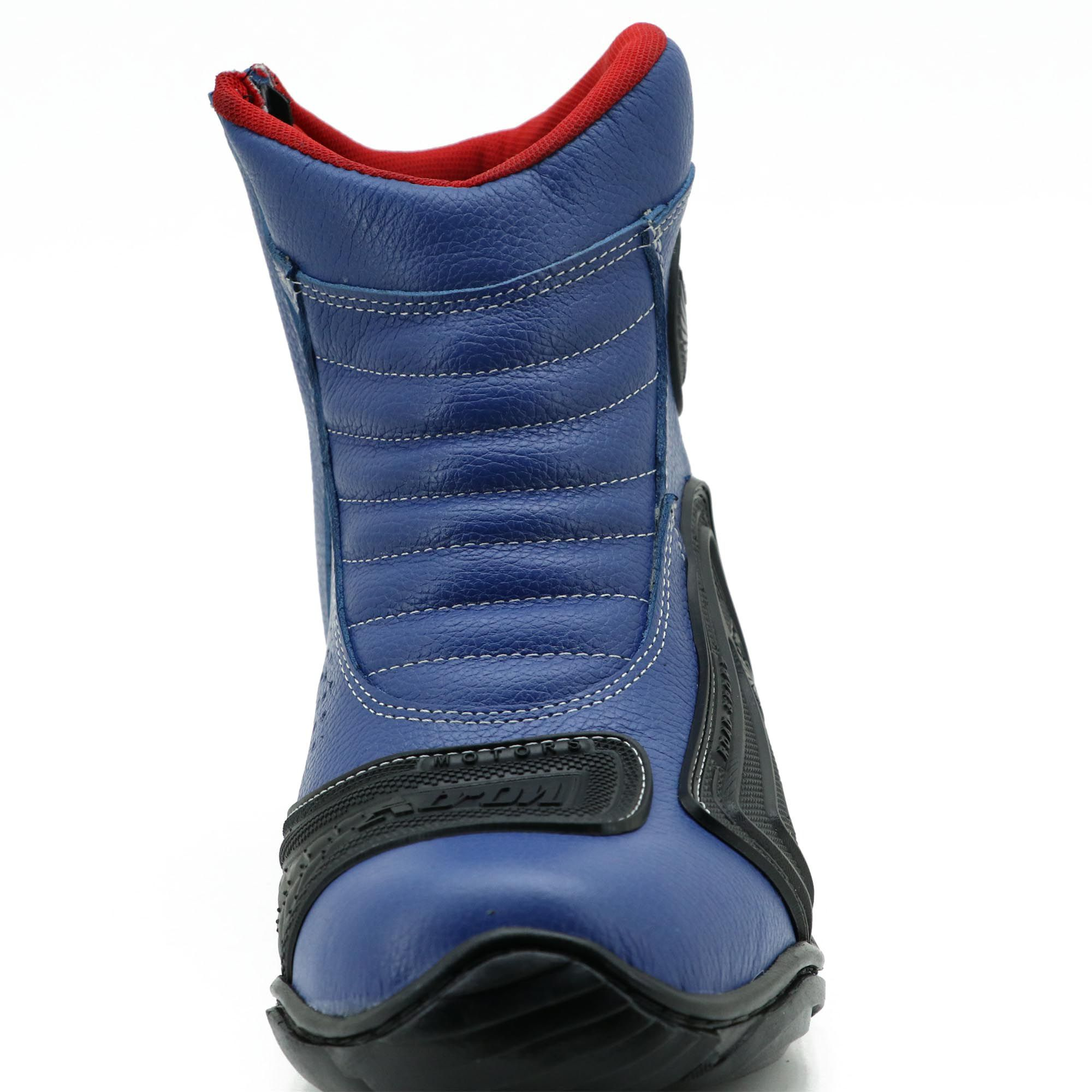 Bota para motociclista azul com borracha 283