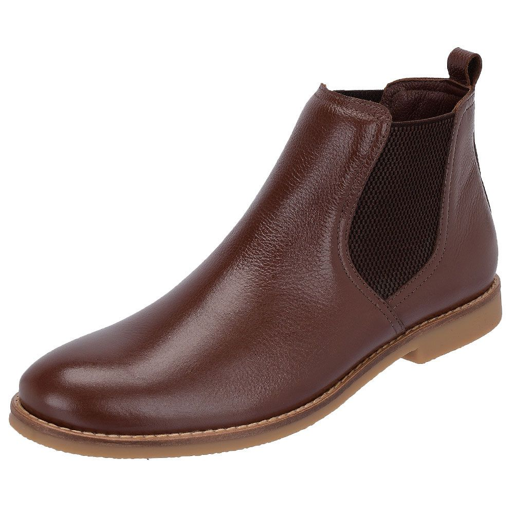 Botina Chelsea Boots Original Couro Liso Floater Pinhão 502