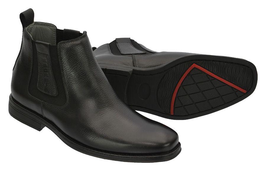 Butina country anti-stress masculina de couro legítimo na cor preta