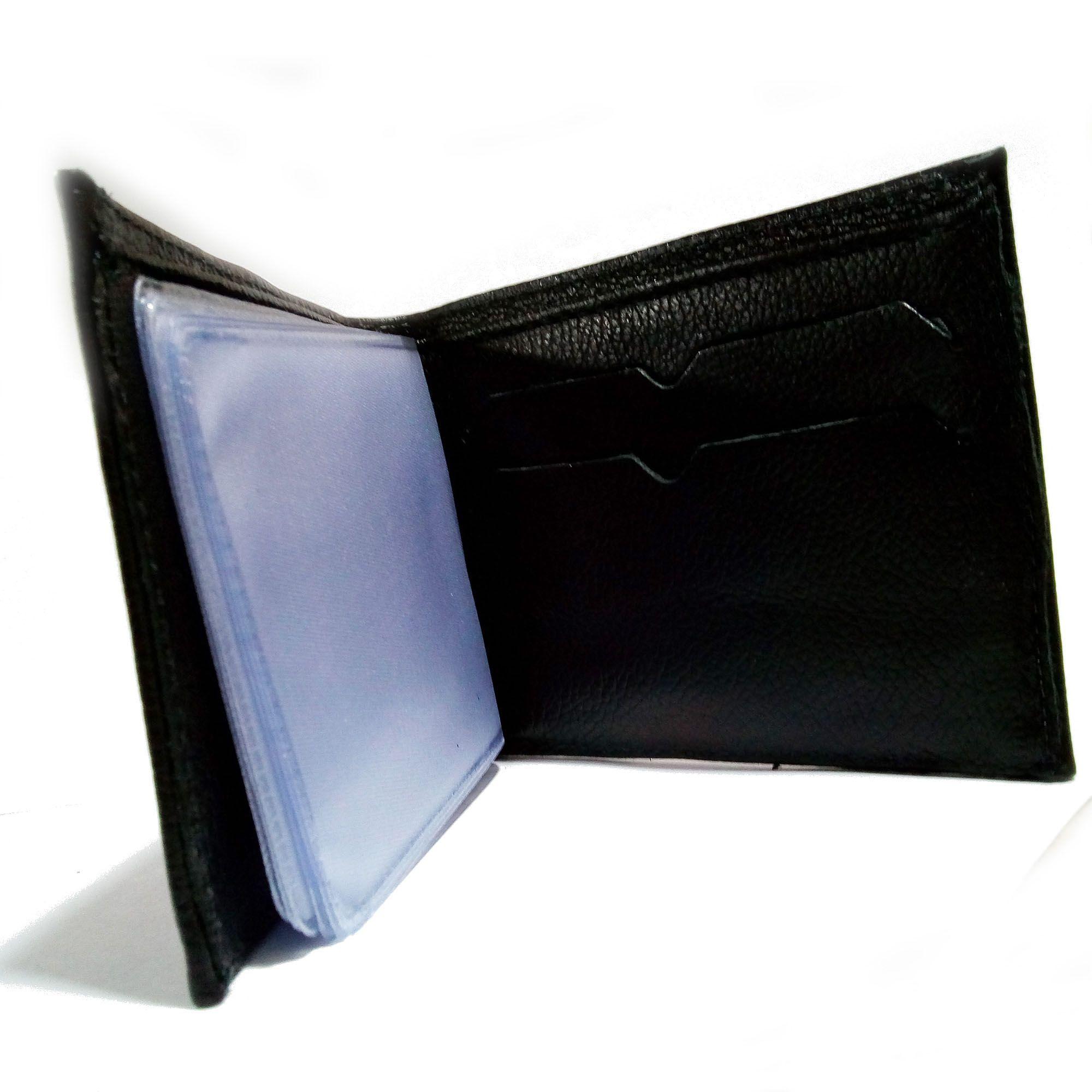 Carteira masculina de couro kit  com 10 peças - valor de atacado
