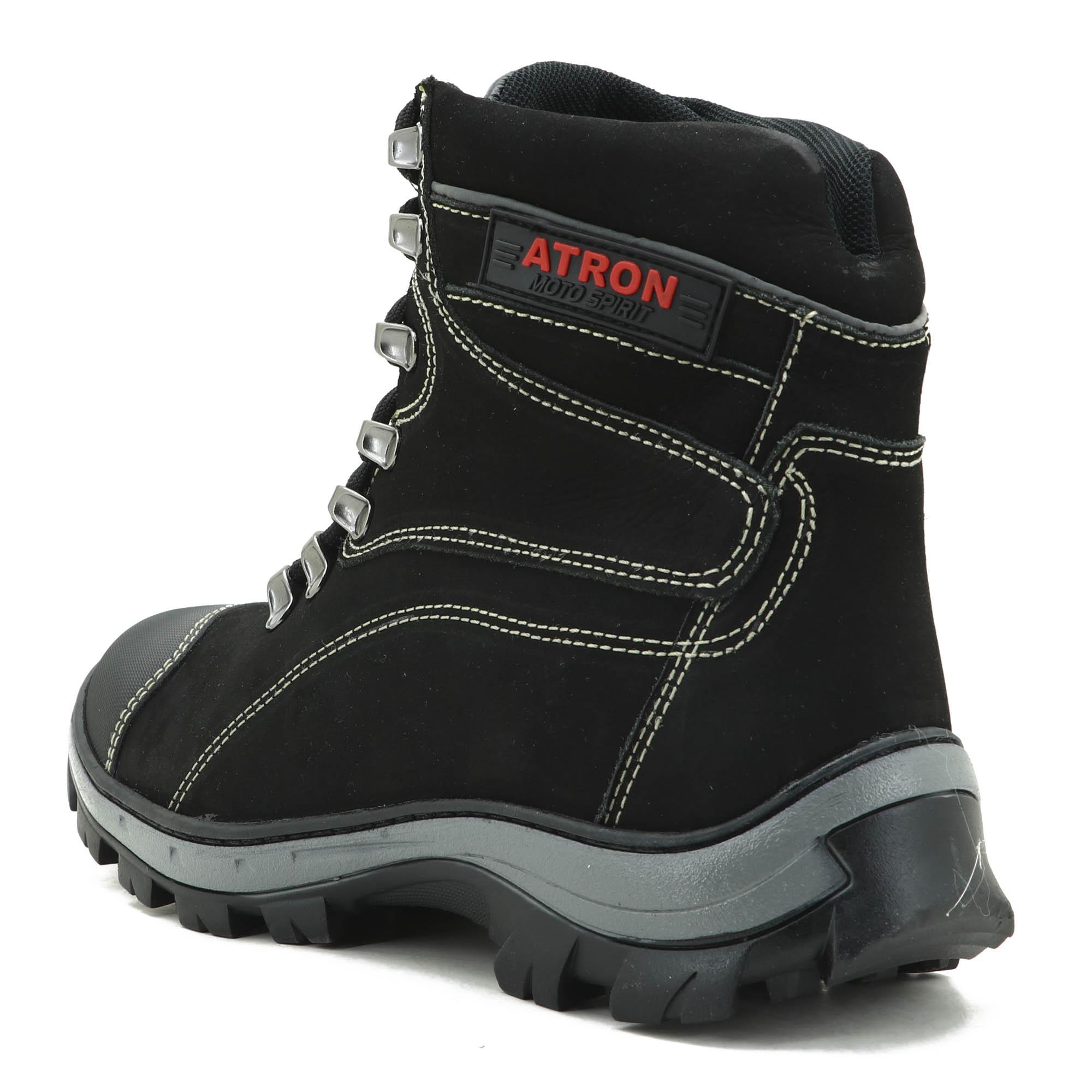 Coturno Adventure Trekking e trilha Atron Shoes na cor Preta 244 VALLENCE