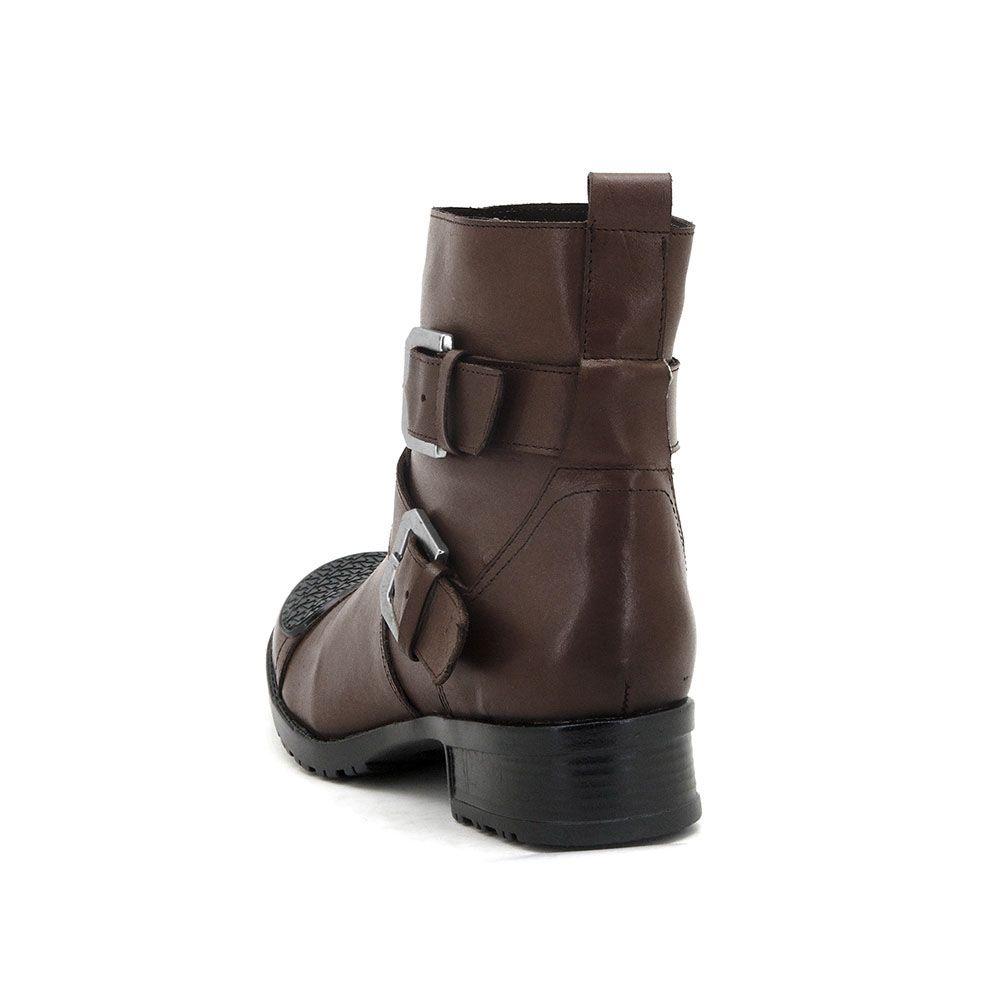 463da05616 Coturno feminino cano baixo solado tratorado Atron Shoes de couro café