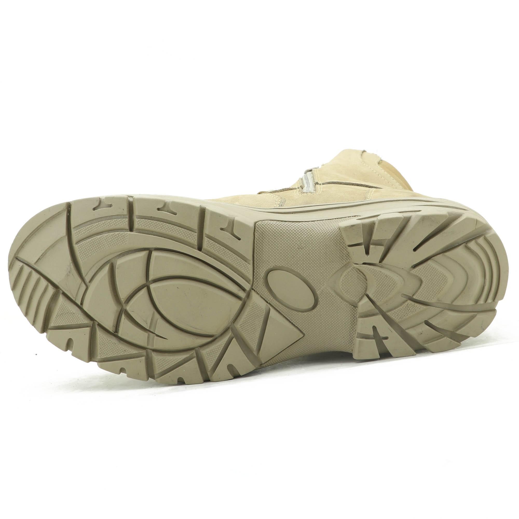 Coturno militar Atron Shoes na cor areia com zíper dos dois lados 303