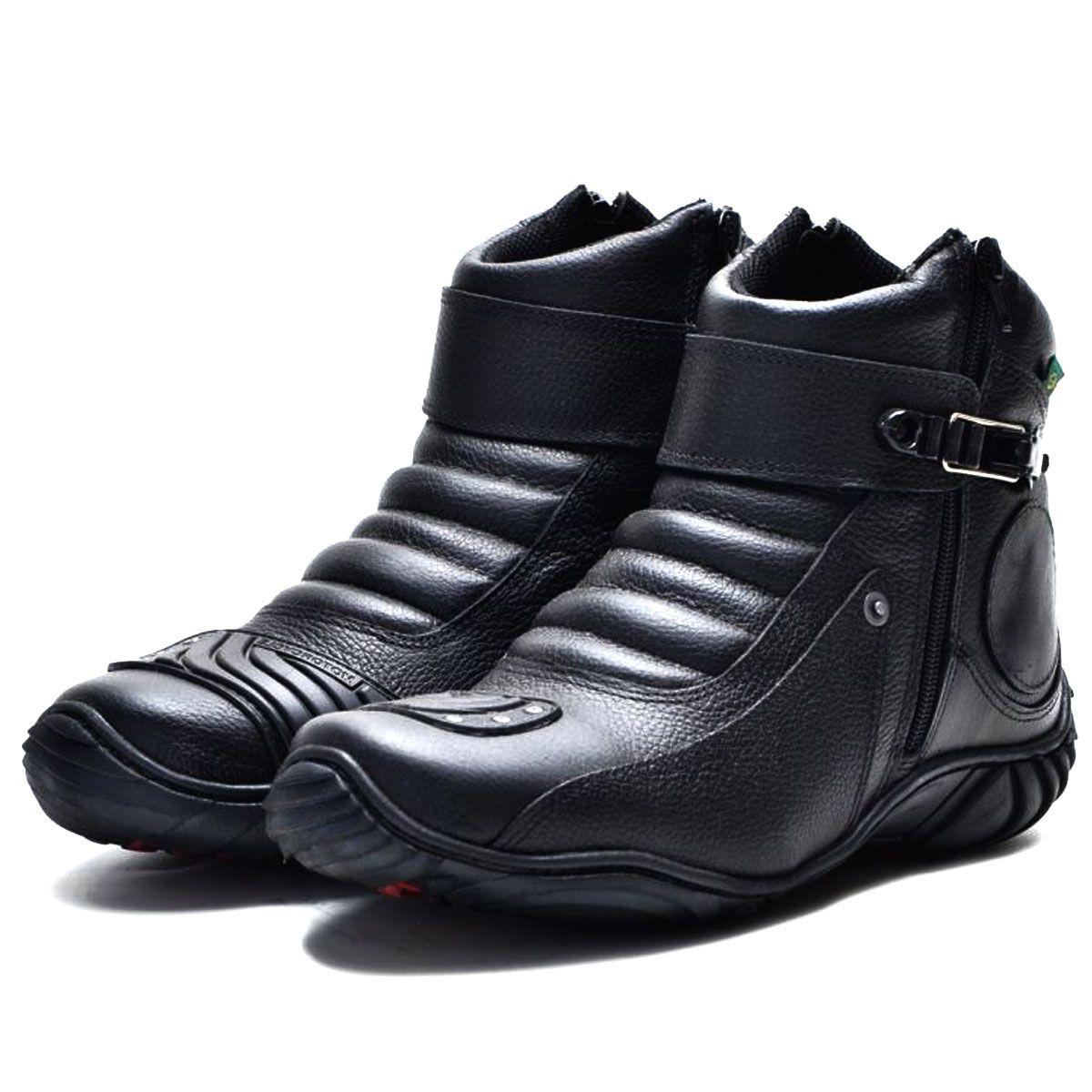 Coturno Motociclista Couro Legítimo 271 Ducati - Grátis uma carteira