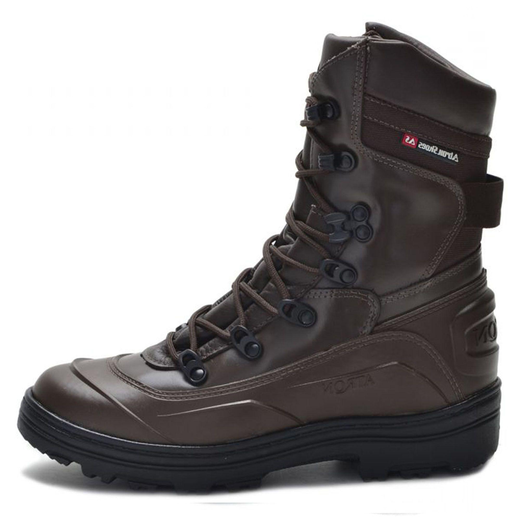6b50d30a0 Coturno tático militar de couro Atron Shoes 289 Café