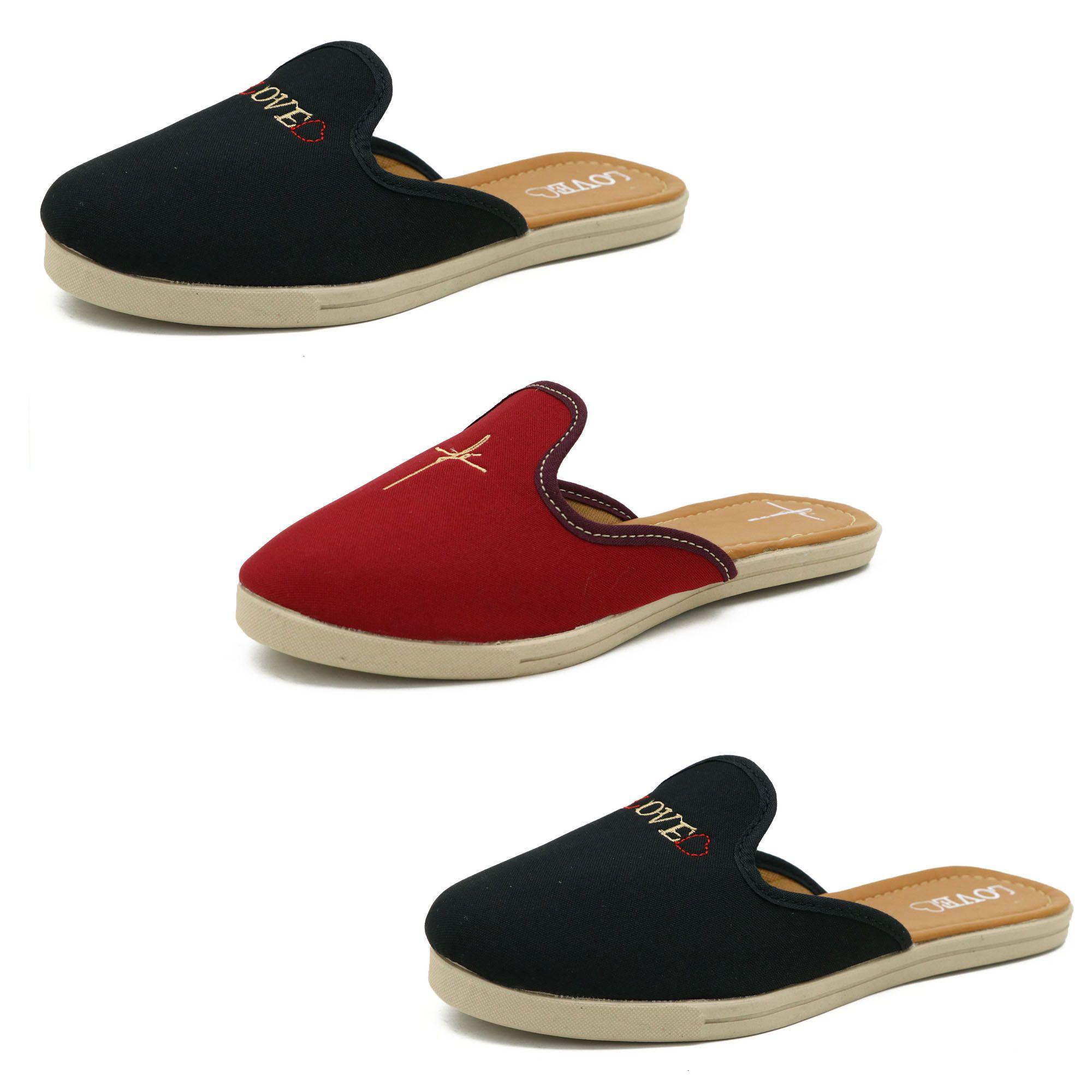 Kit de 3 pares sapatilhas feminina moda evangélica 28000