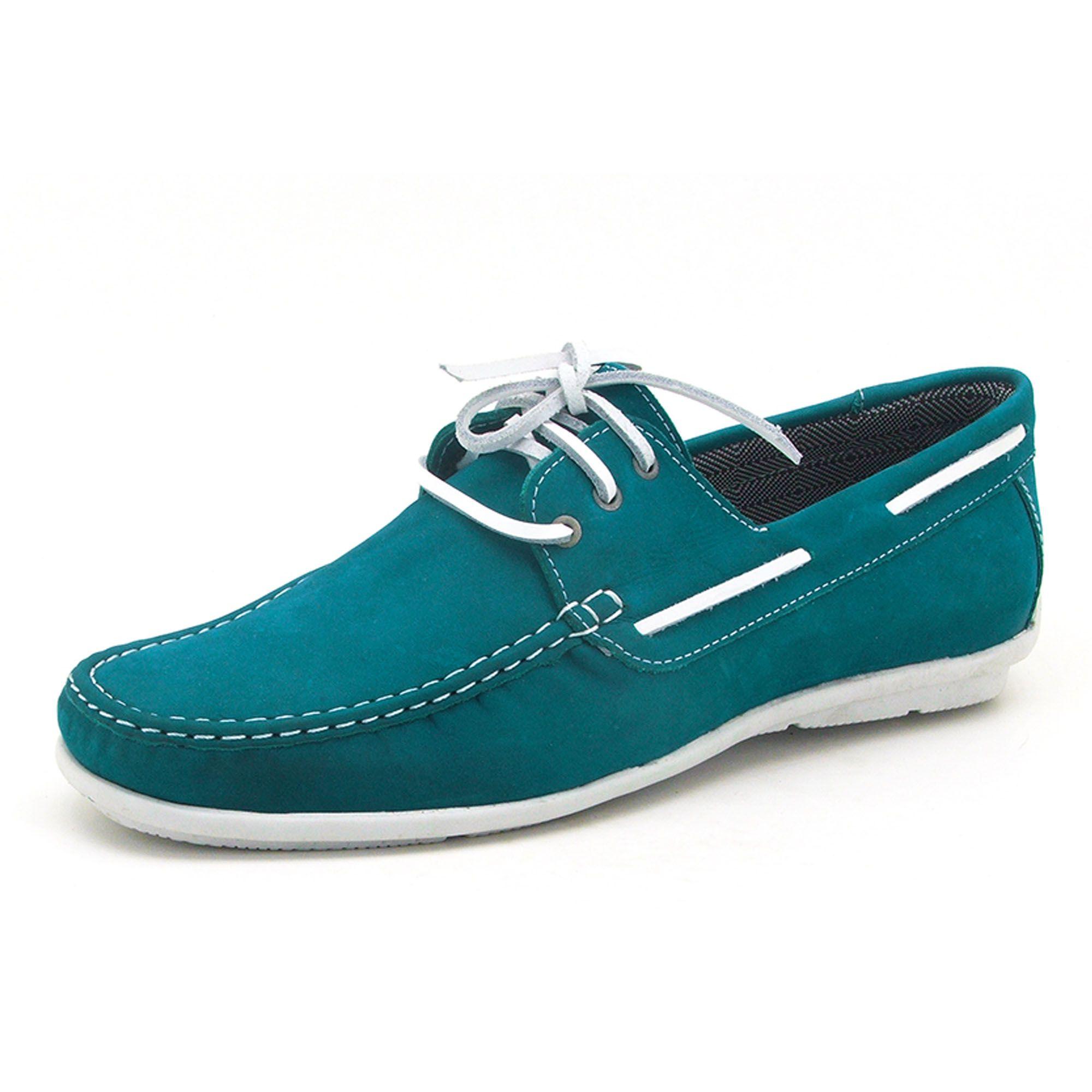 Mocassim dockside masculino Atron Shoes azul 572