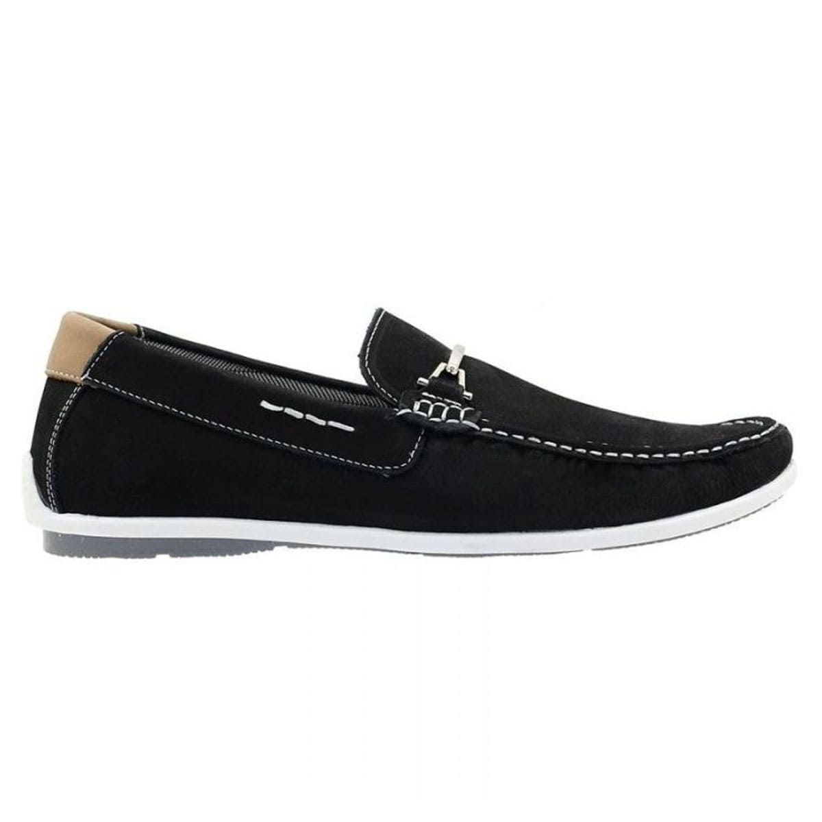 Mocassim dockside masculino Atron Shoes preto 571