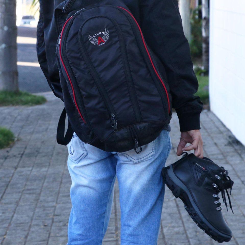Mochila Motociclista Impermeável Atron Shoes