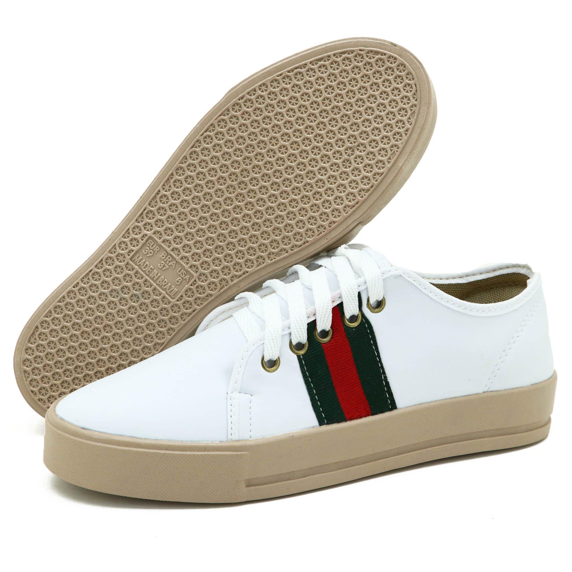 Sapatênis feminino Atron Shoes na cor branca 27000