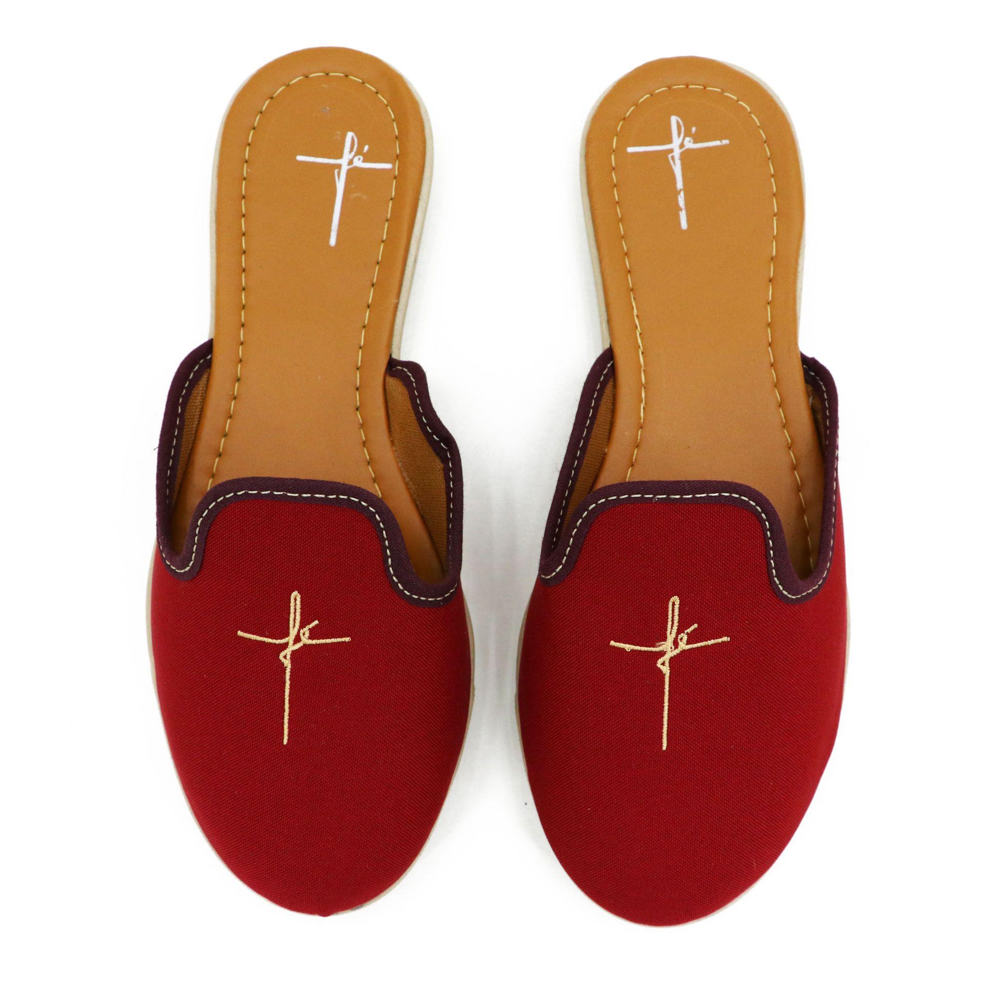Sapatilha feminina evangélica na cor vermelha 28000