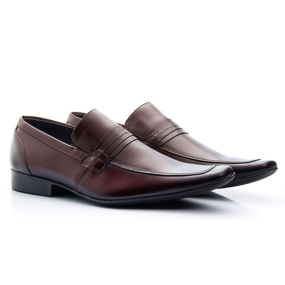 Sapato social bico fino italiano em couro legítimo 359