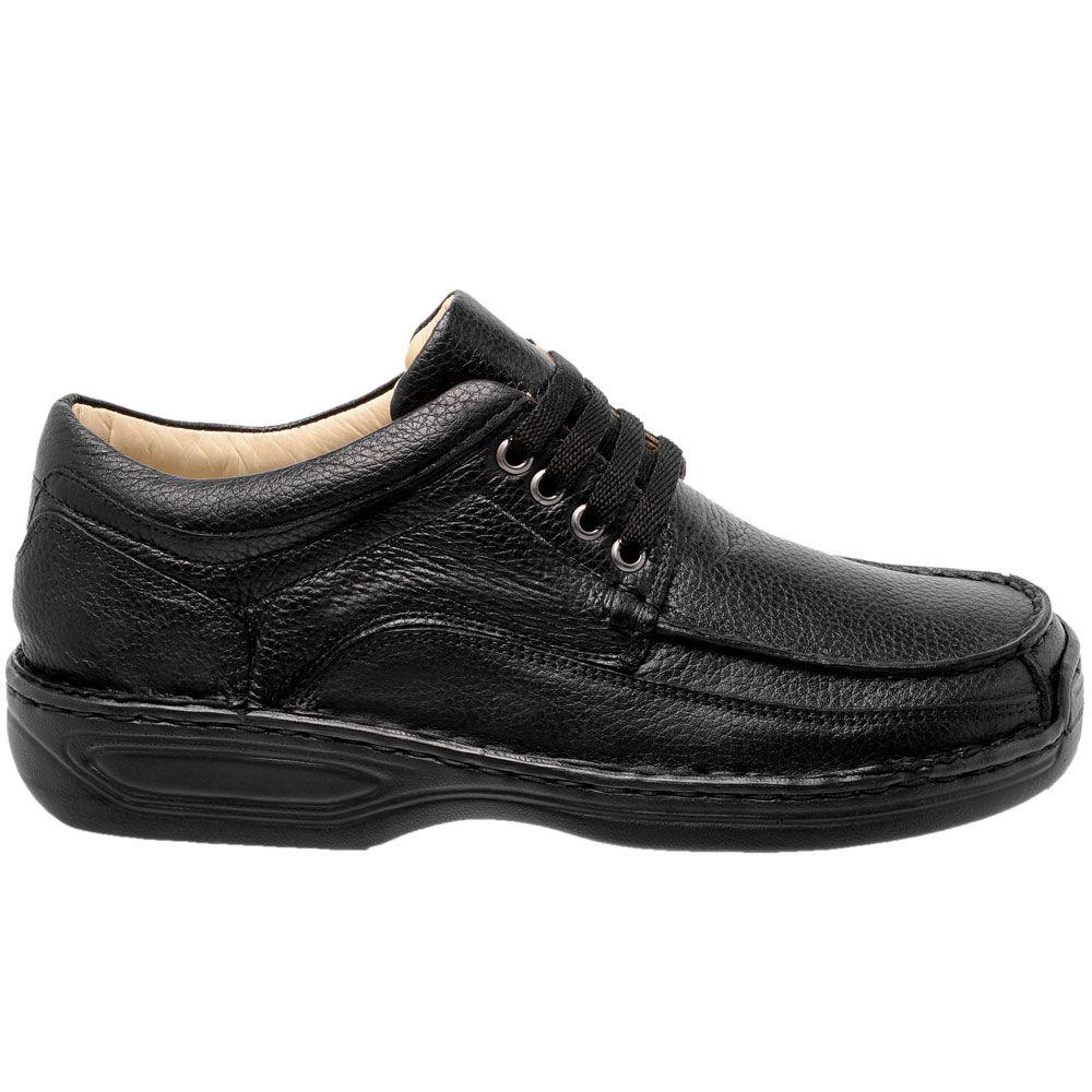 Sapato masculino em couro na cor preta anti-stress super confort 16000