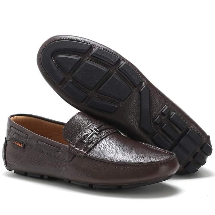 Sapato Mocassim dockside masculino em couro na cor preta 3460