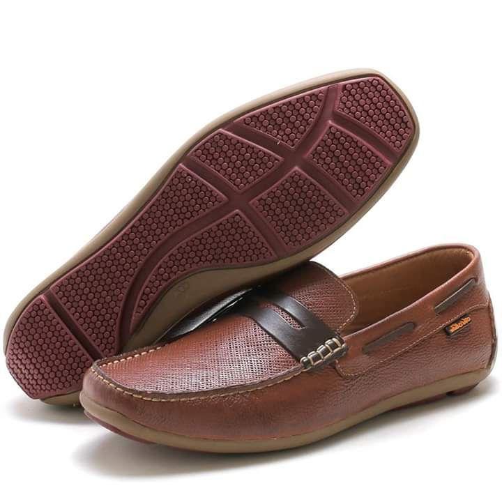 Sapato Mocassim Prayano ART NOBRE em couro na cor havana 3300