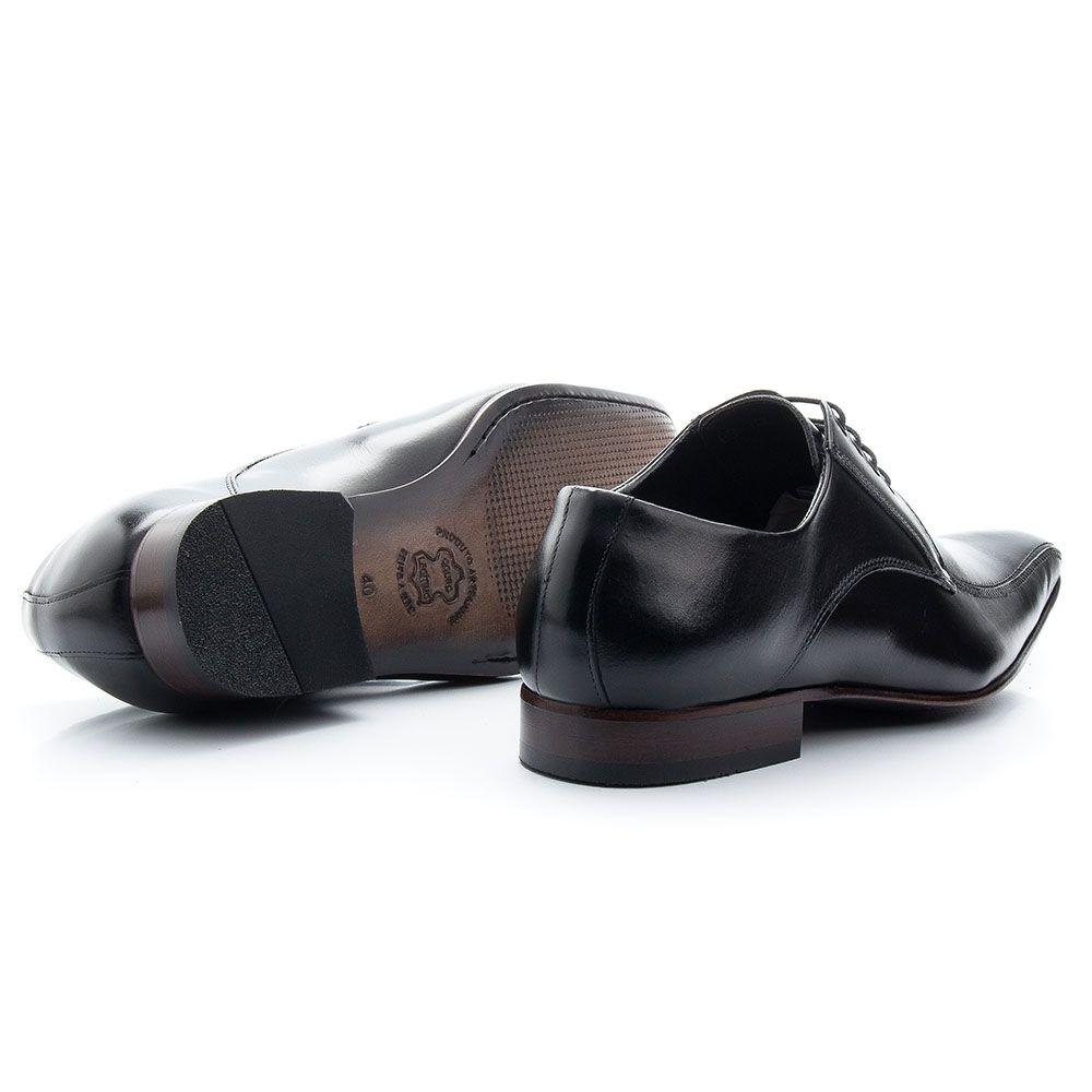 Sapato social urbano em couro legítimo preto 300