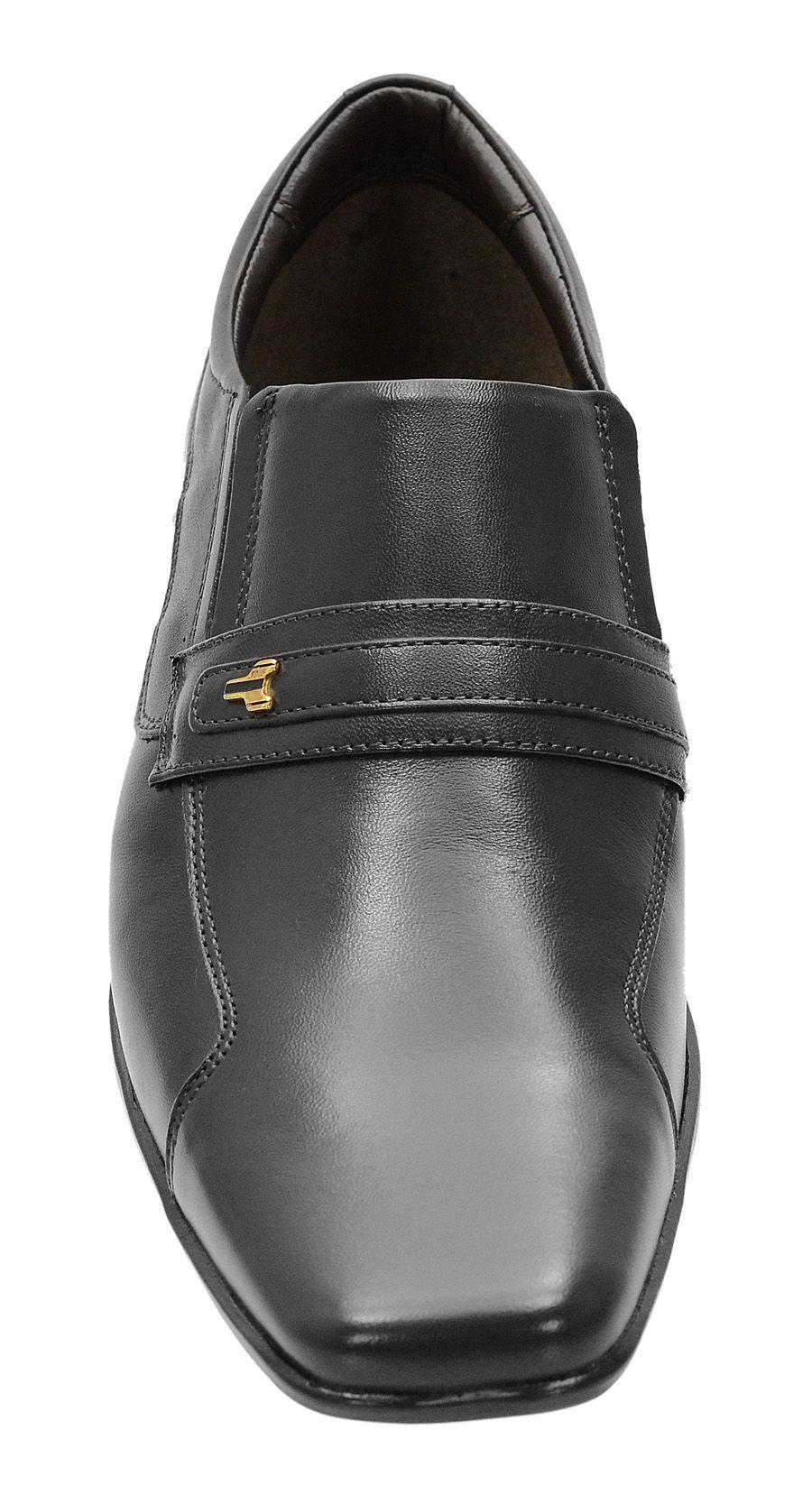 Sapato Social 193 preto Em couro legitimo