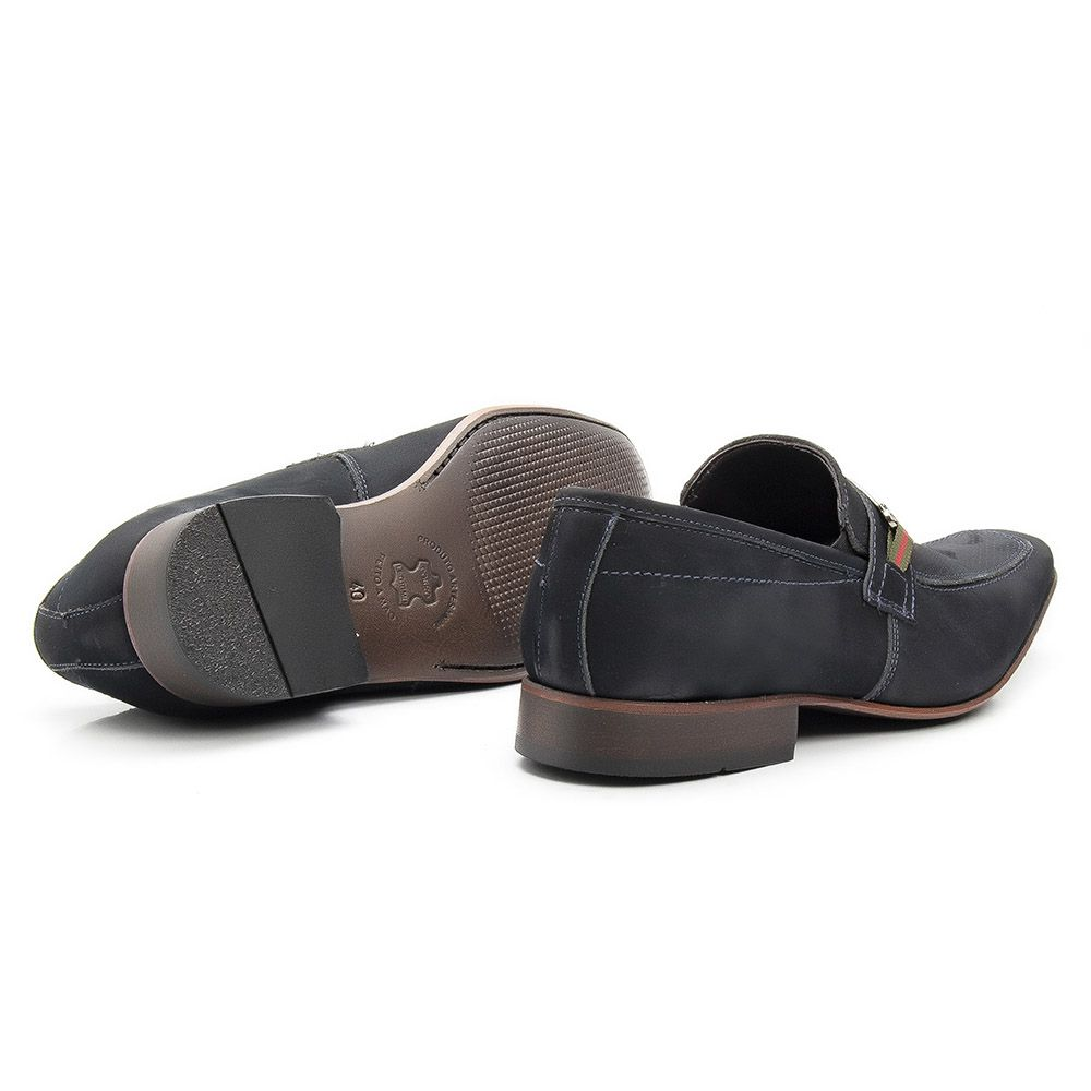 Sapato social nobuck microfuros com fivela de onix 442