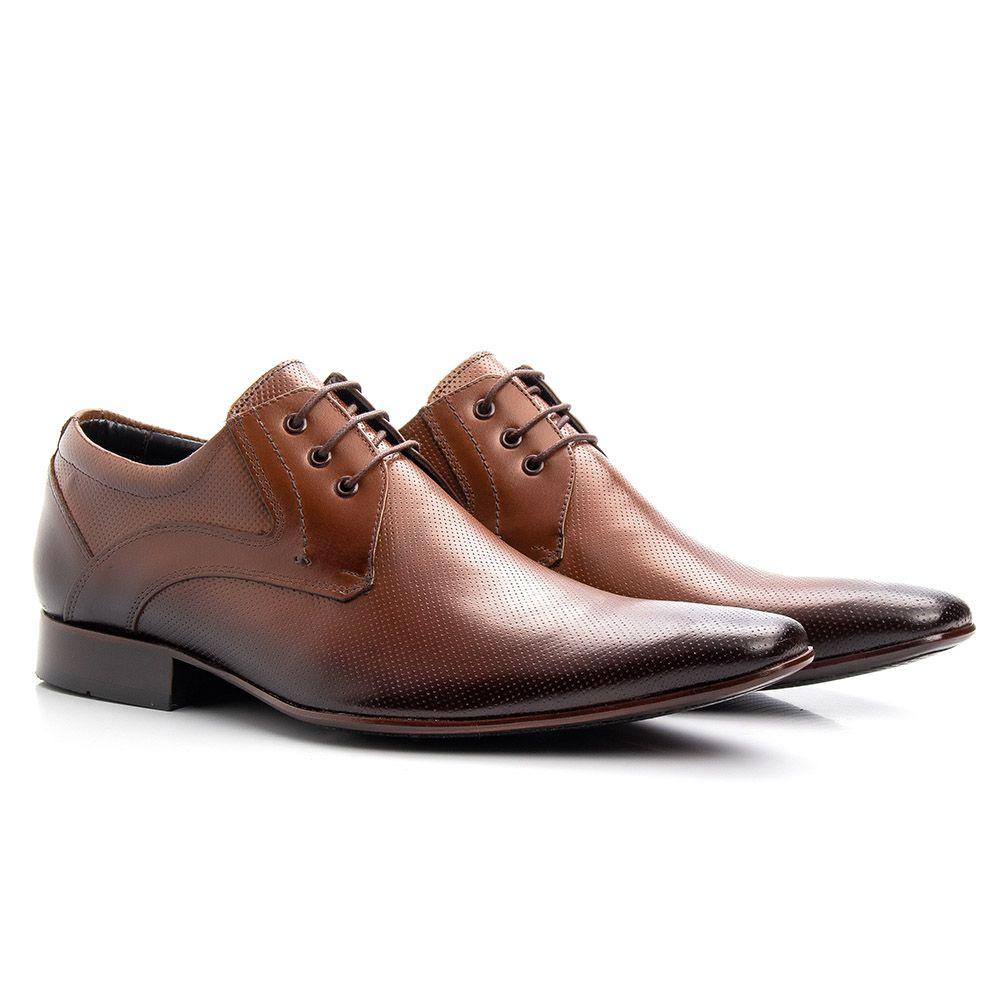 Sapato social whisky de couro legítimo microfuros 379