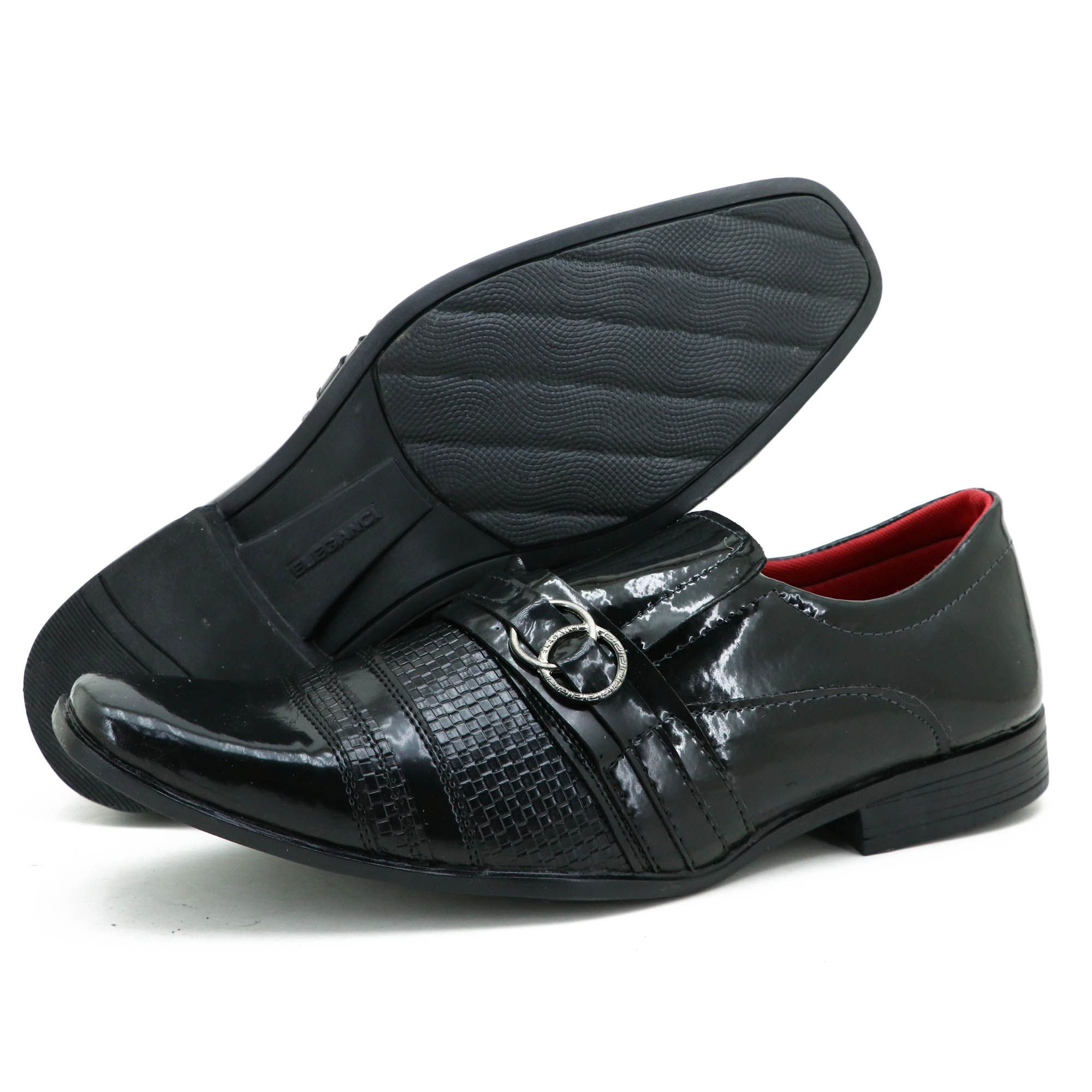 Sapato de couro técnologico na cor preta luxury 5012