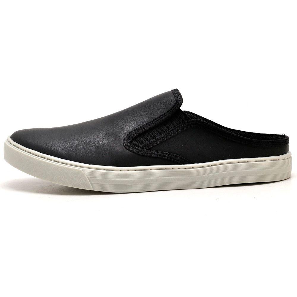 Slip On masculino Mule super confortável na cor preta