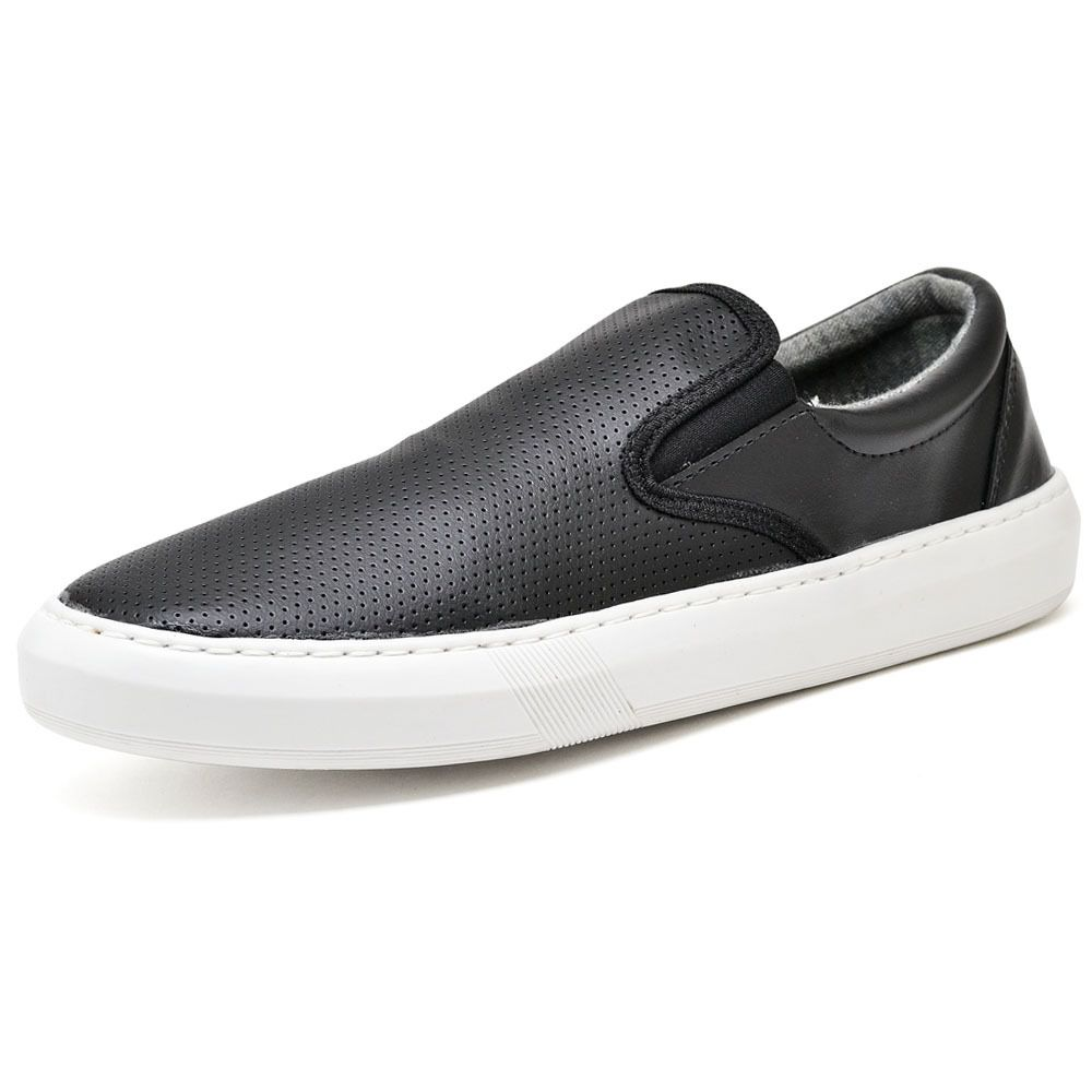 Slip On masculino preto super moderno e confortável
