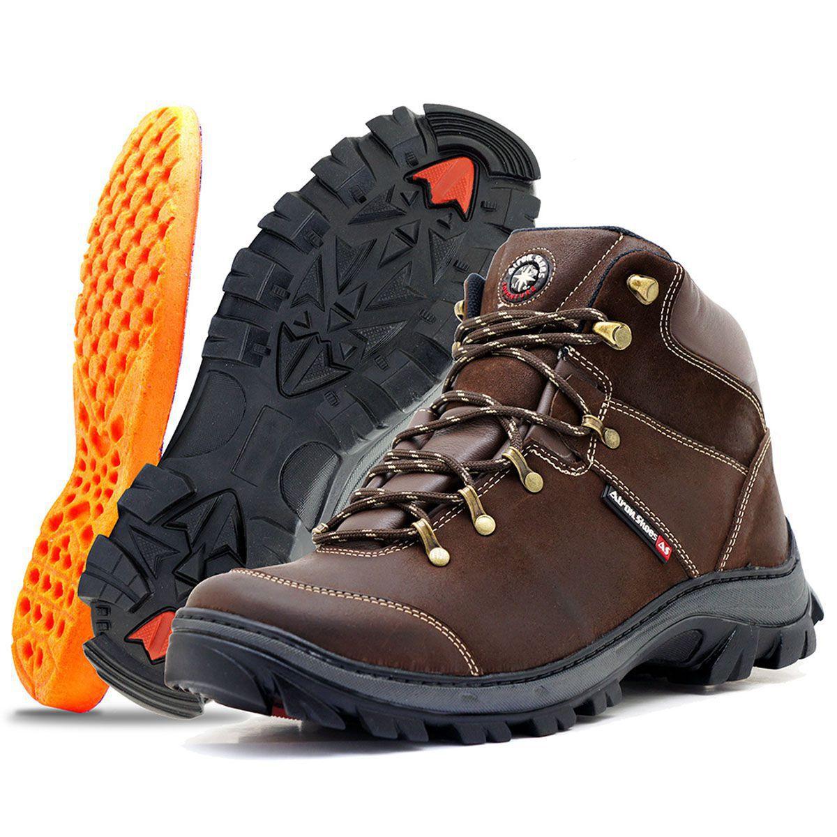 5003dda723b Tênis adventure em couro legítimo ideal para trilha 259 Café