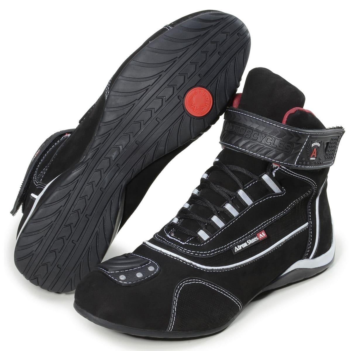 Tênis para motociclista esportivo e academia em couro legítimo 310 com chinelo Atron e carteira de brinde