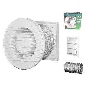 I-Kit Exaustores Para Banheiro (Ambiente) 150mm Sicflux Arkit 34 (Indicado para até 15 M²)