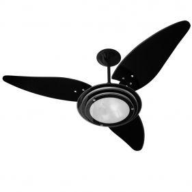 Ventilador de Teto Venti-Delta Black 3 Pás 127V Silencioso e Potente