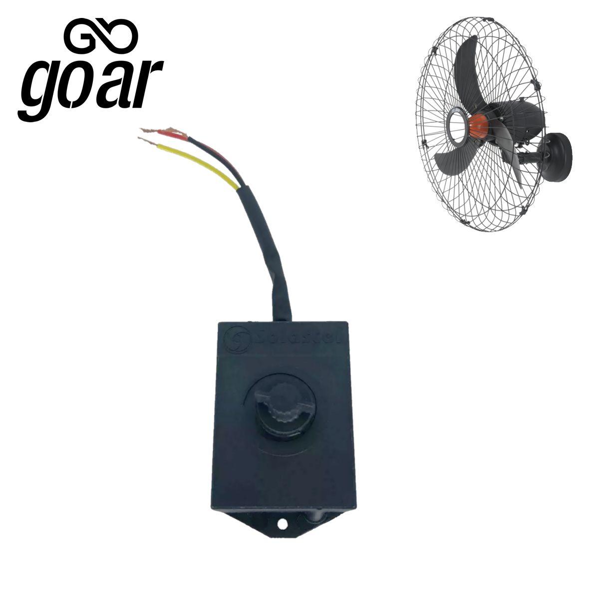 Controle De Velocidade Ventilador Goar V70 70 Cm Preto Novo