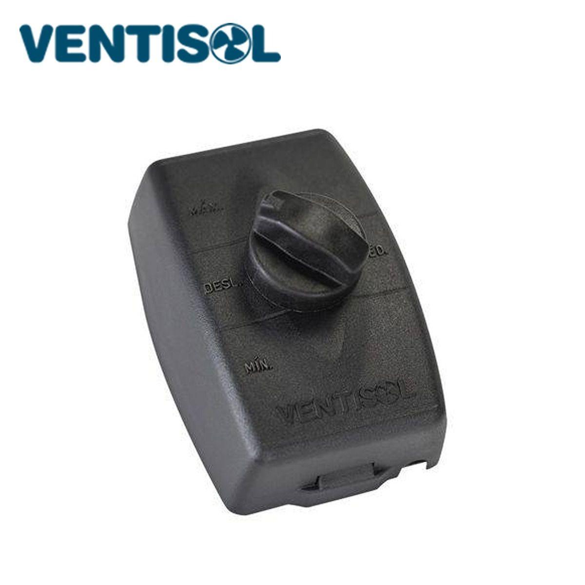 Controle De Velocidade Ventilador Ventisol 60cm Preto Novo