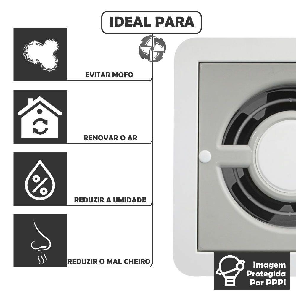 Kit Exaustores Para Banheiro (Ambiente) 150mm DB Ventokit 280 (Indicado para até 12 M²)