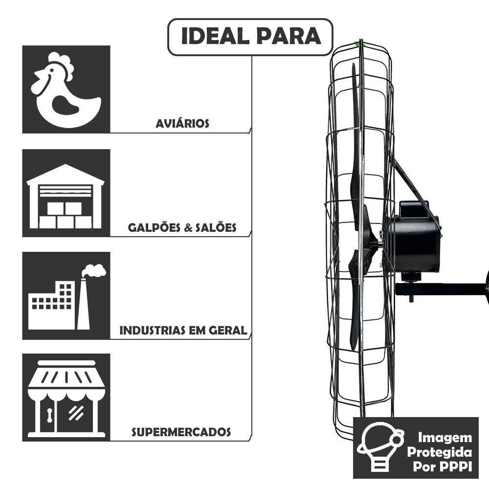 Ventilador de Parede Ventisol 1 Metro 220V Preto Silencioso