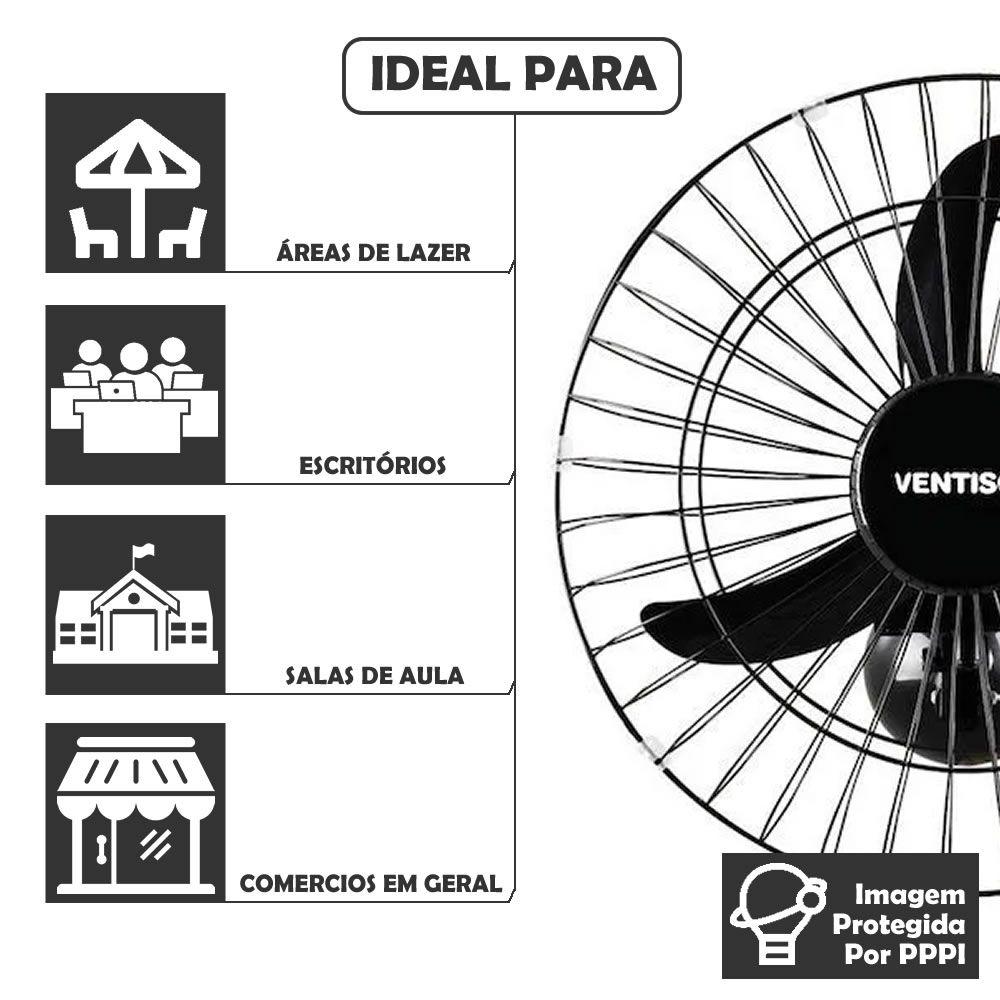 Ventilador de Parede Ventisol 50 Bivolt Premium 200 W Potente