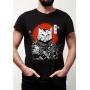 Camiseta Geek Gato Samurai RPG - Animal estimação Pet