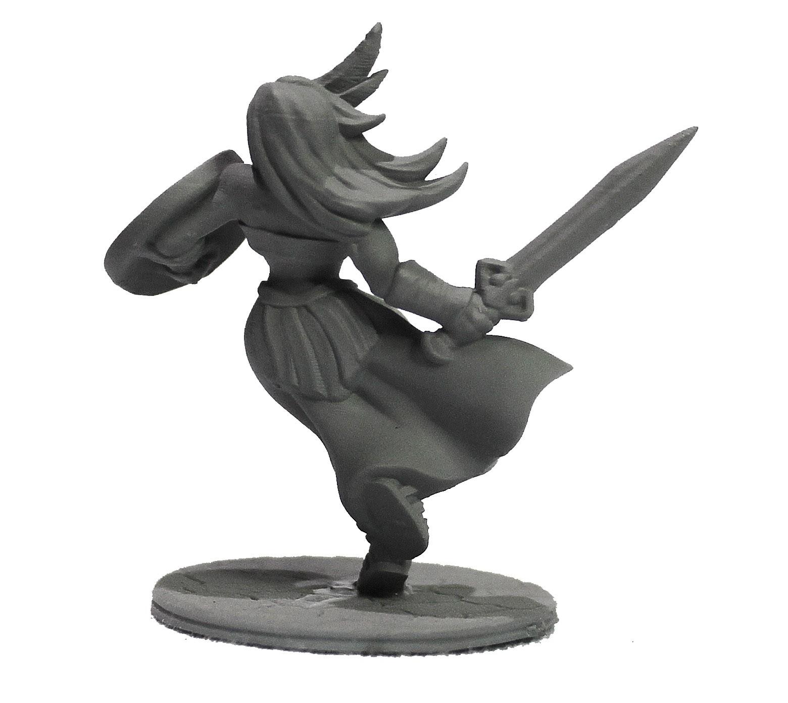 Amazona miniatura RPG Boargame Hobby pintura - guerreira  - Dragon Store
