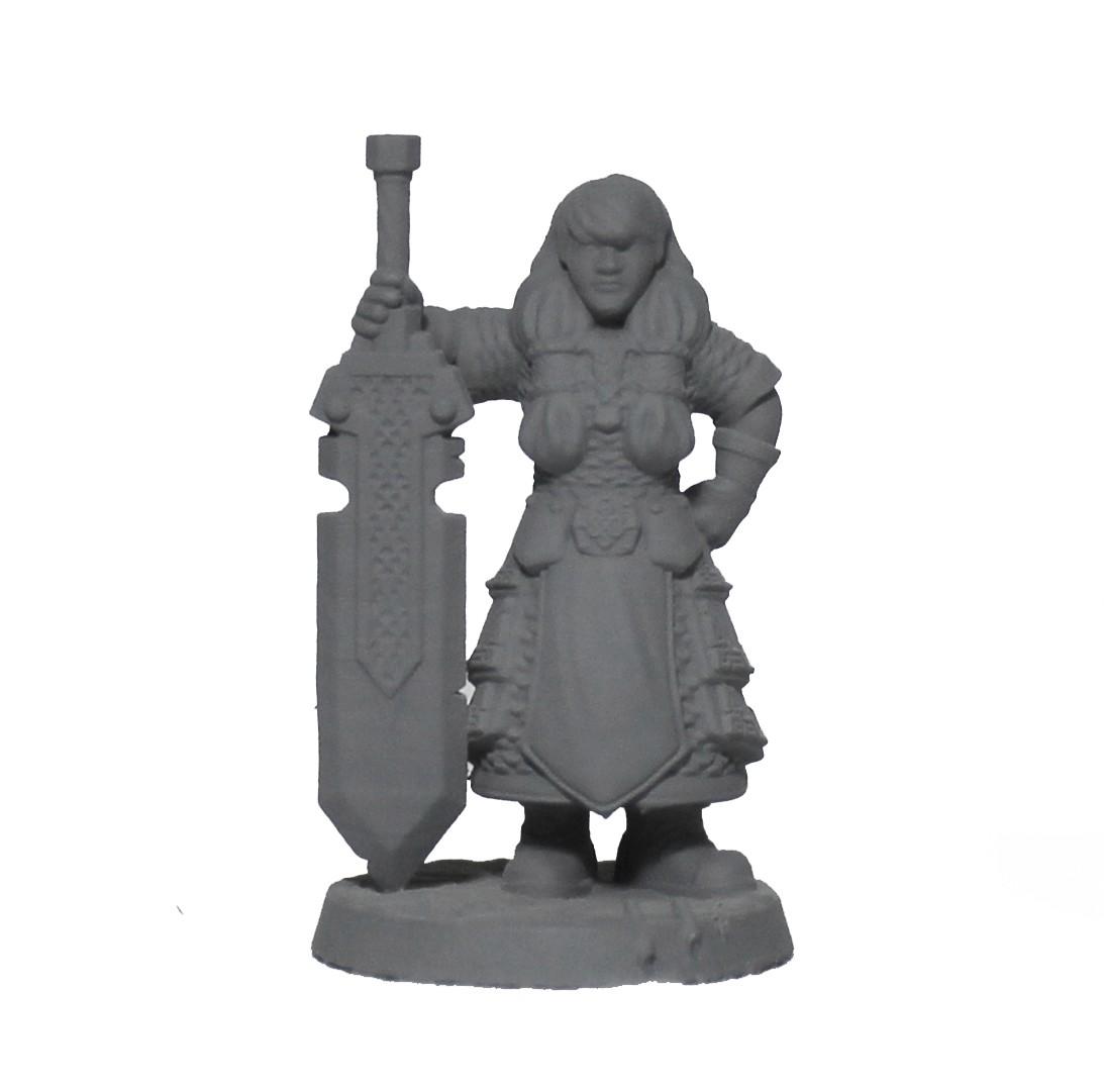 Anã espada miniatura RPG Boargame Hobby pintura Dwarf Anão