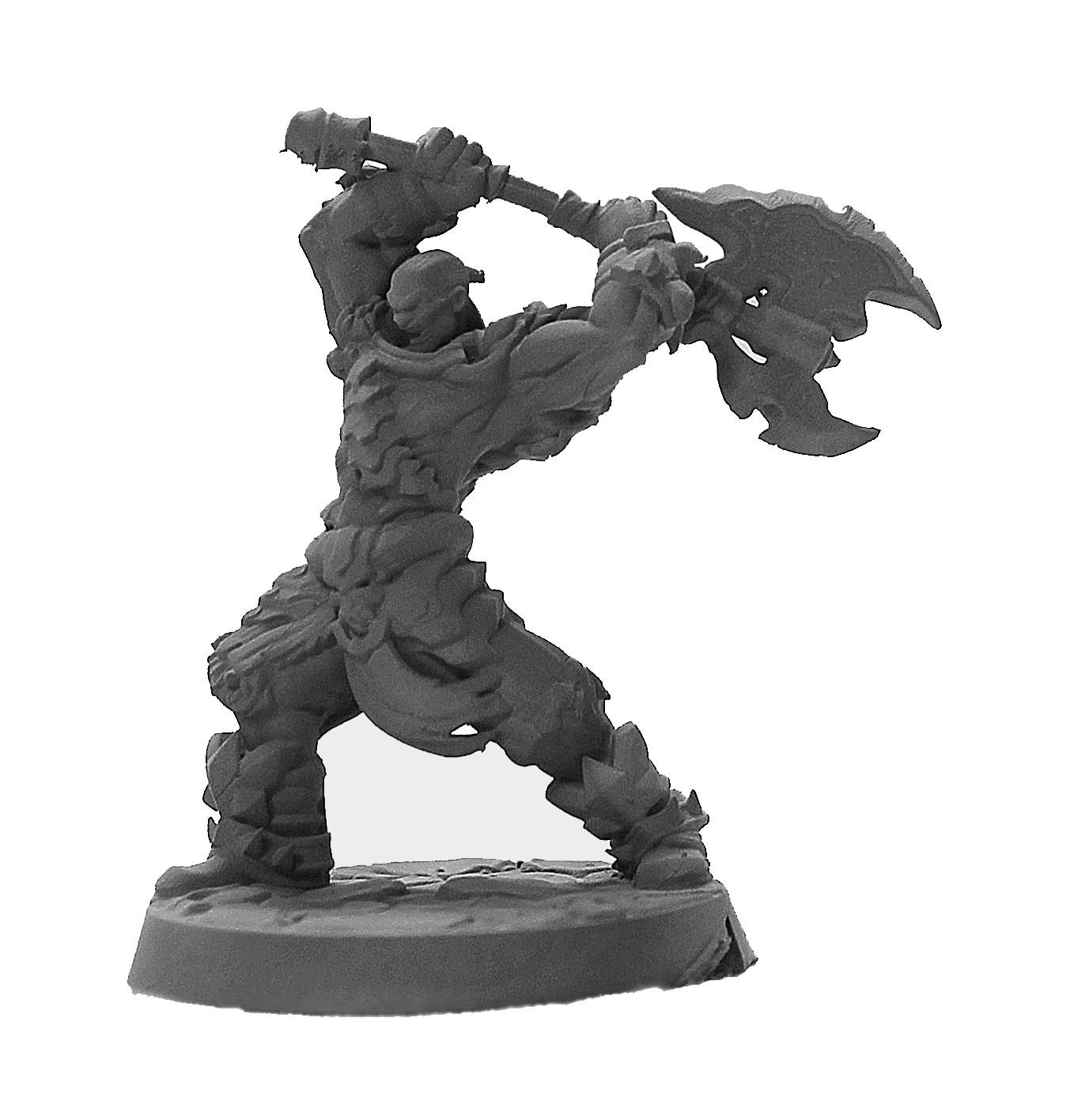 Barbaro machado miniatura RPG Boargame Hobby pintura  - Dragon Store