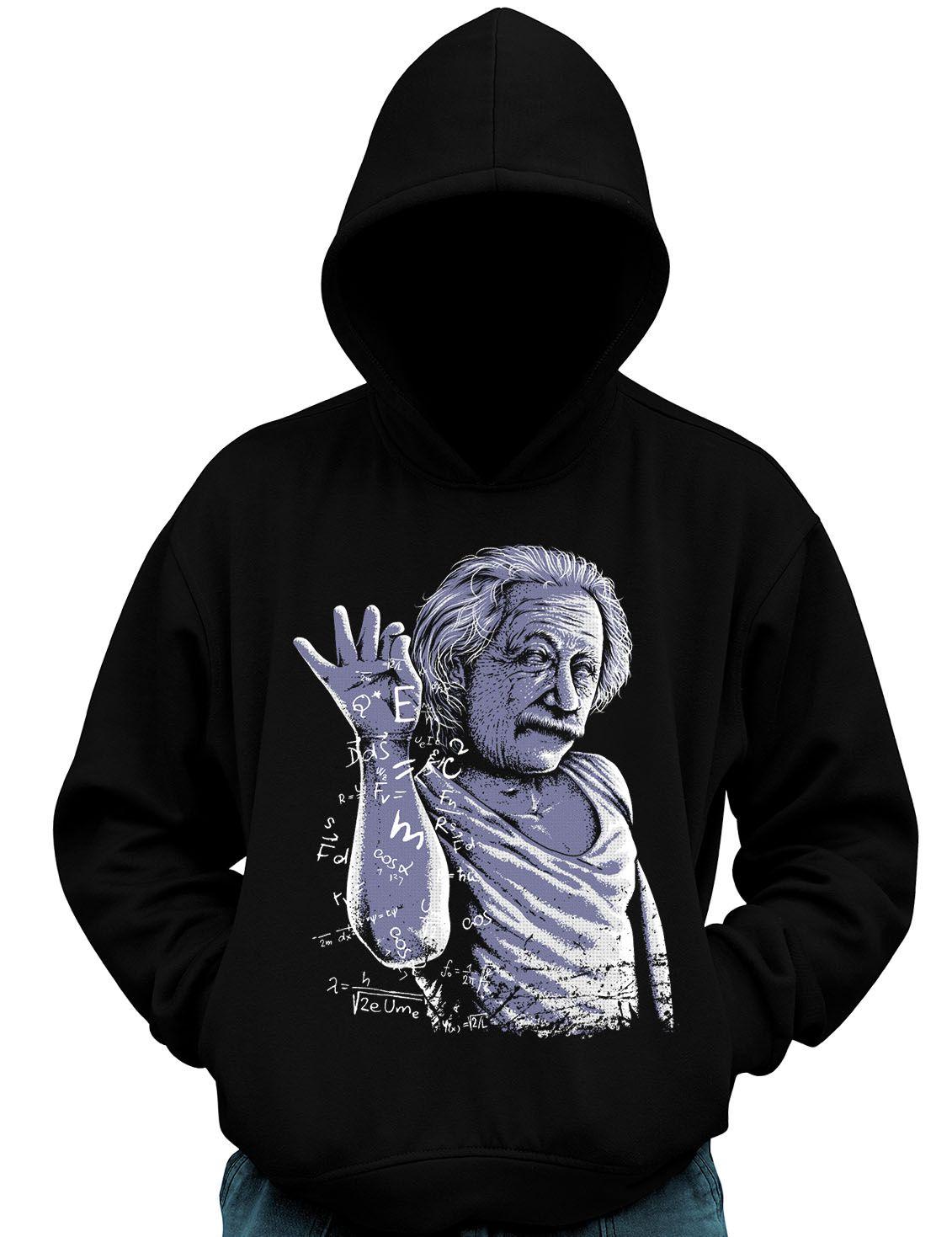 Blusa De Moletom Geek Albert Einstein Fisico cientista  - Dragon Store