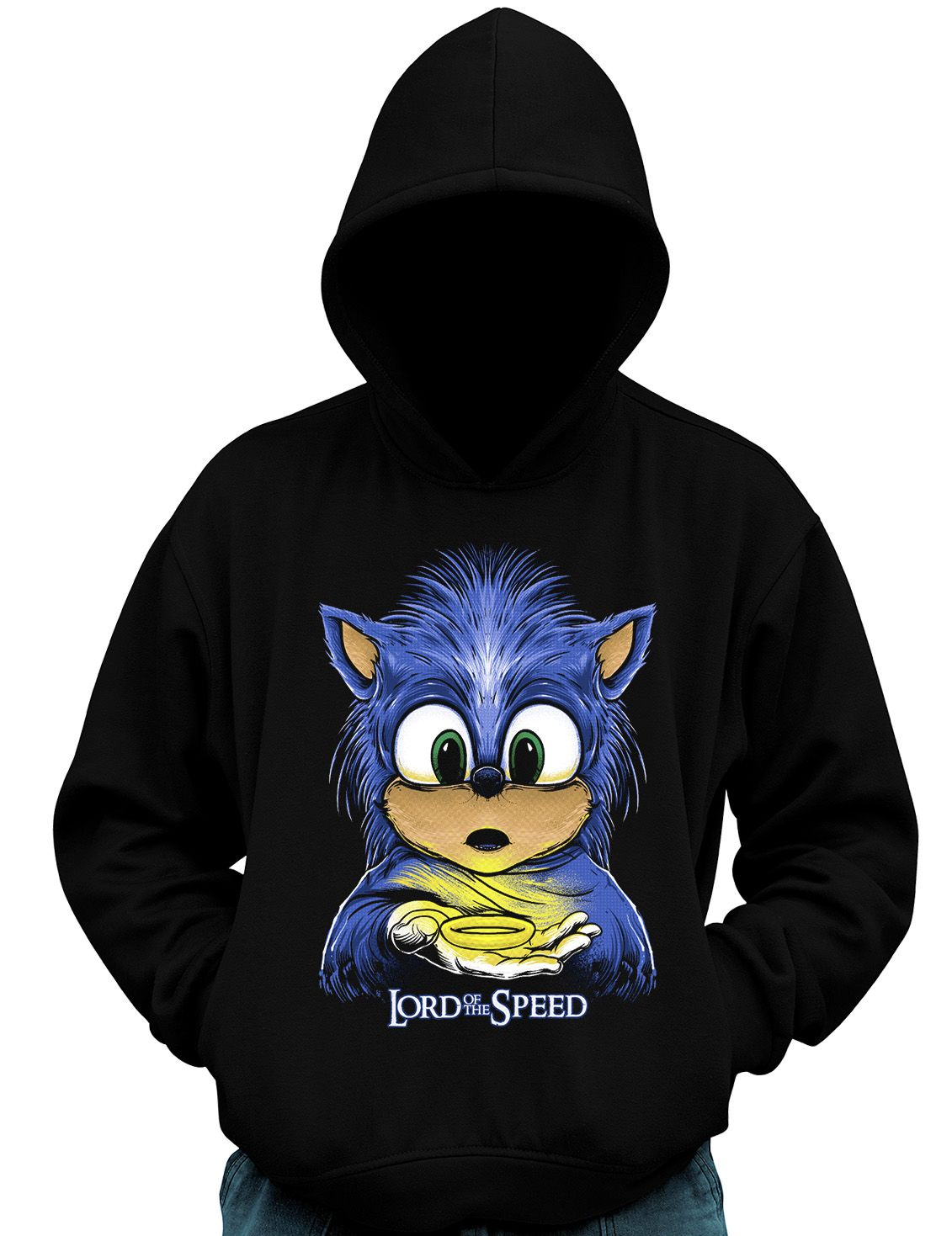 Blusa De Moletom Geek Sonic dos Anéis Lord of Speed Game  - Dragon Store
