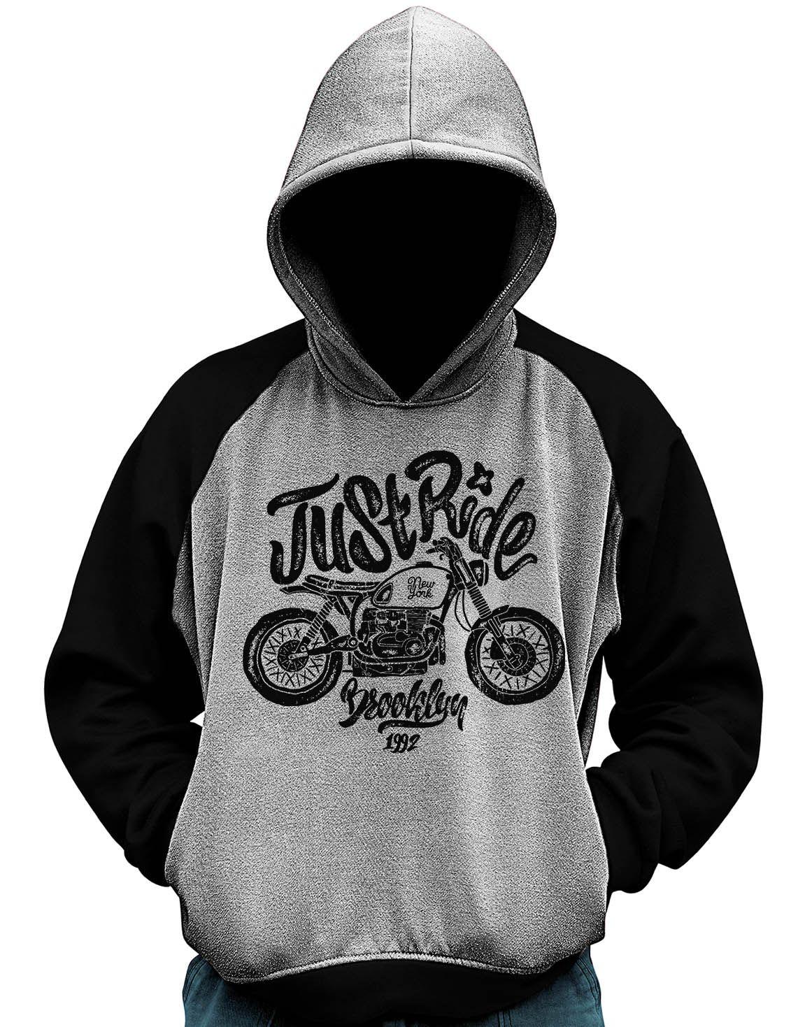 Blusa De Moletom Just Ride Moto Motociclista Motoqueiro  - Dragon Store