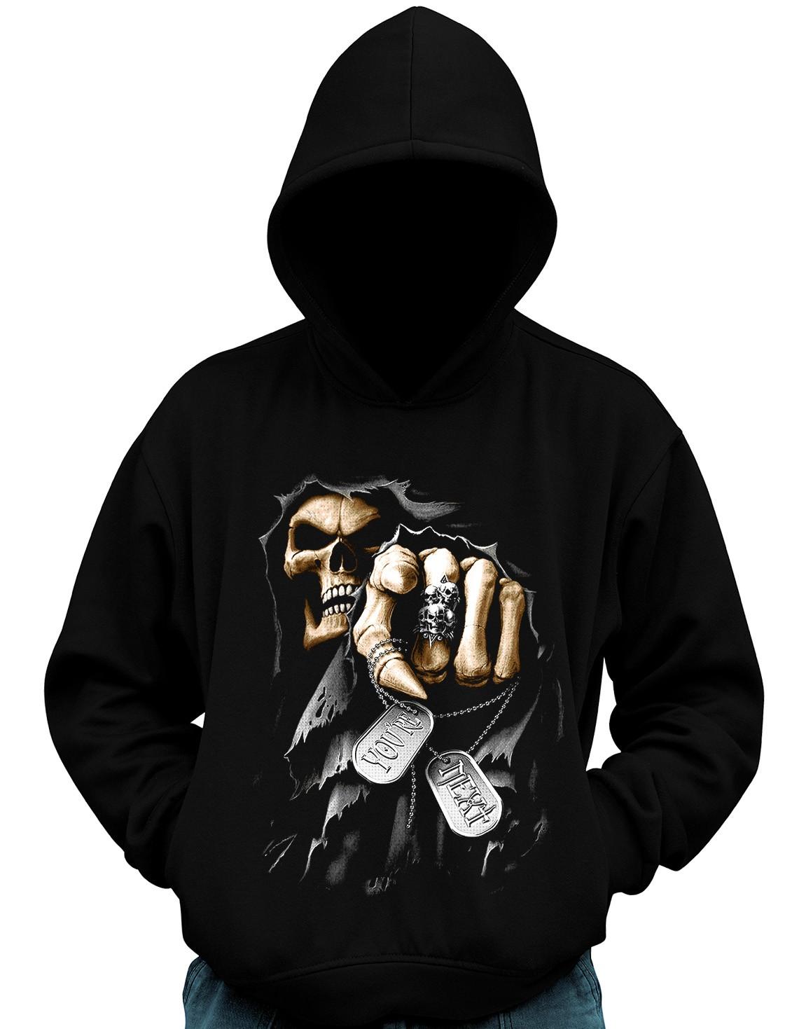 Blusa De Moletom You Are Next Caveira Grim Reaper Morte banda Moto Casaco  - Dragon Store