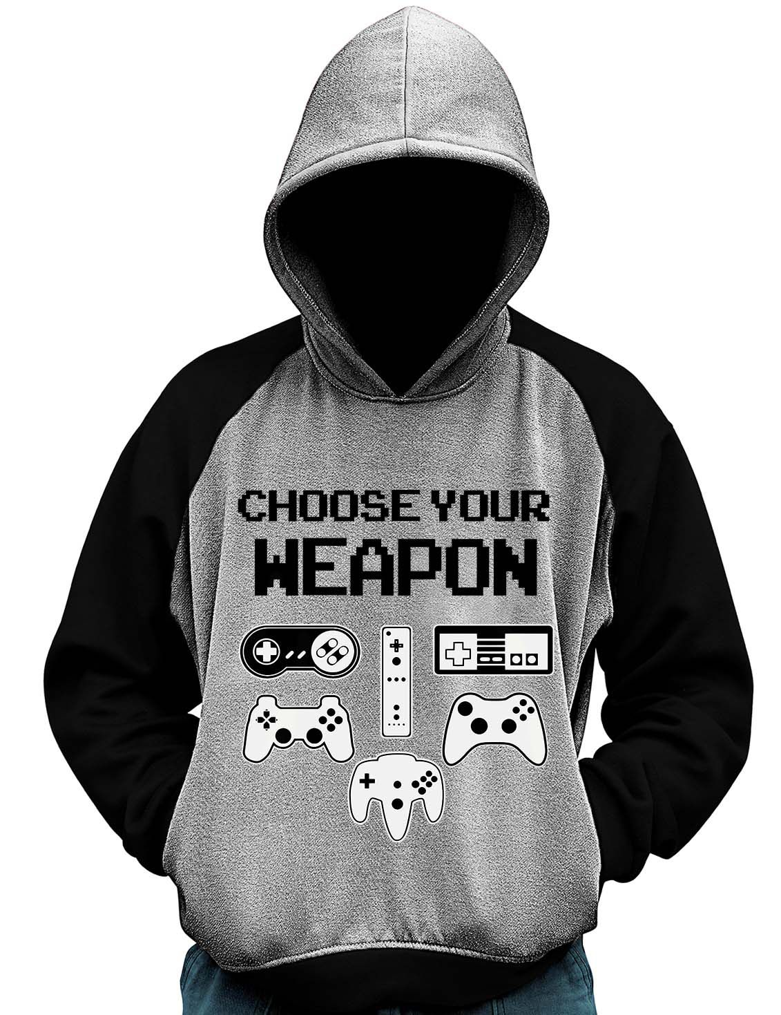 Blusa Moletom Choose Your Weapon Controle Gamer Game Casaco