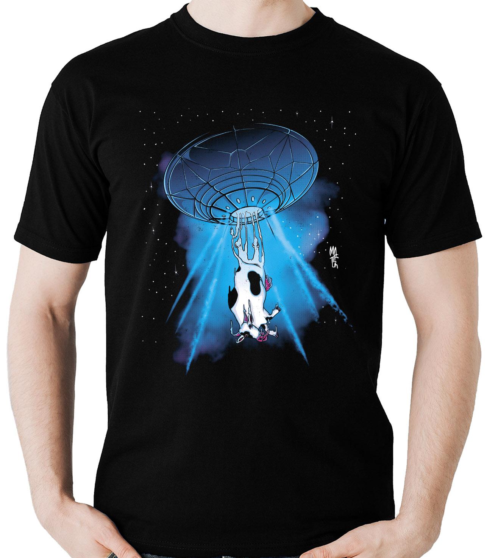 Camiseta Abdução Vaca Alien Et Ufo Ovni Alienigena  - Dragon Store