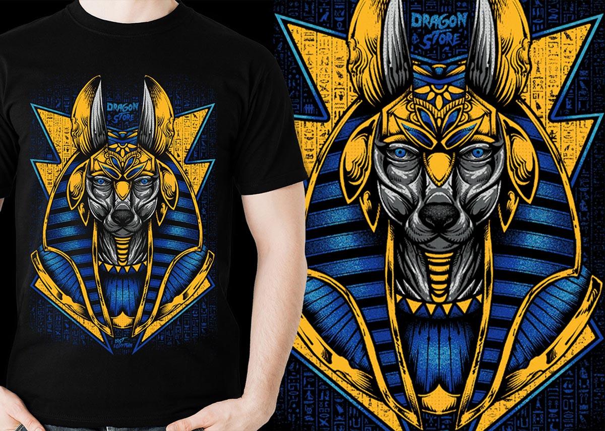 Camiseta Anubis Deus Egito Lost Egyptian Dragon Store  - Dragon Store